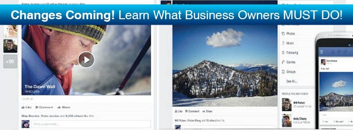Facebook Changes mean MUST DO's for Business!