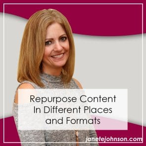 Repurpose Content In Different Places and Formats